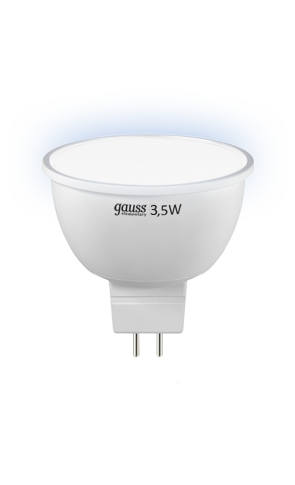 Лампа Gauss Elementary LED MR16 3,5W GU5.3 4100K AC220-240V (LD13524)
