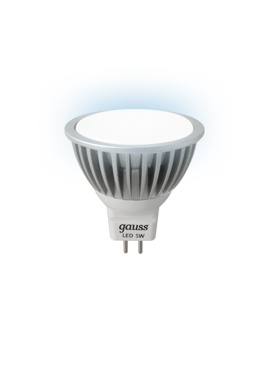 Лампа Gauss LED MR16 5W GU5.3 4100K AC220-240V FROST (EB101505205)