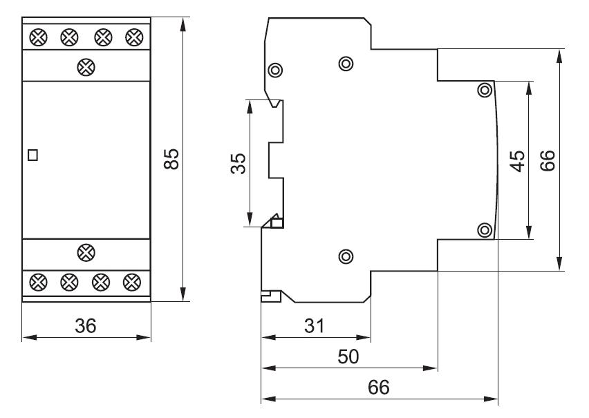Контакторы модульные iek схема